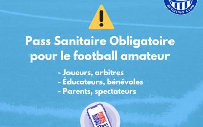 PASS SANITAIRE Pour le football